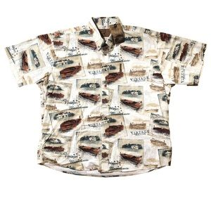 North River Vintage Motorboats Shirt New with Tags